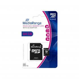 MediaRange - carte mémoire flash - 64 Go - microSDXC