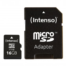 Carte Micro Sdhc 16go C10+adapt Intenso