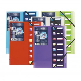 Exacompta Crystal - Trieur polypro 8 positions - incolore