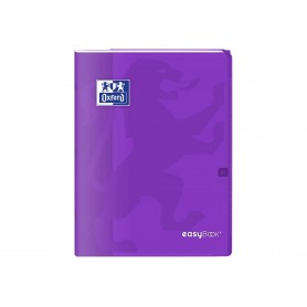 Oxford EasyBook - Cahier polypro 24 x 32 cm - 96 pages - grands carreaux (Seyes) - violet