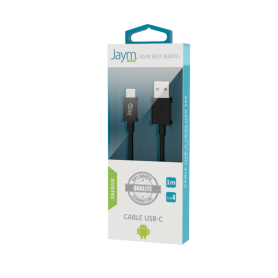 Cable Usb Charge & Synchro Type-c 1m Noir Jaym