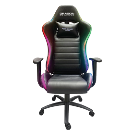 Fauteuil Dragon War Gaming Led Rouge Black