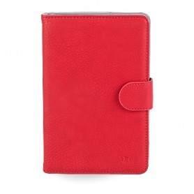 """Etui Tablette Rivacase Orly 10.1"""" Cuir Rouge"""