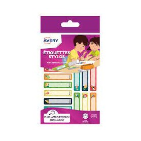 30 Etiquettes Stylo Tropical 50x10mm - Avery