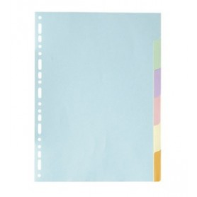 Exacompta Forever - Intercalaire 6 positions - A4 - carte recyclée couleurs pastel