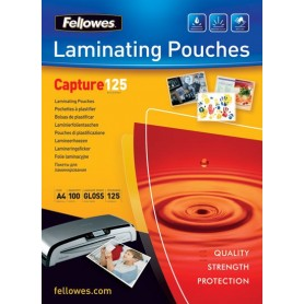 Fellowes - 100 pochettes de plastification A4 (216 x 303 mm) - 125 microns - brillantes