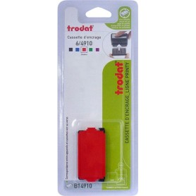 Trodat 6/4910 - Recharge tampon pour Printy 4810, 4910 - rouge